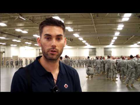 Drew Fuller goes  with the Red Cross