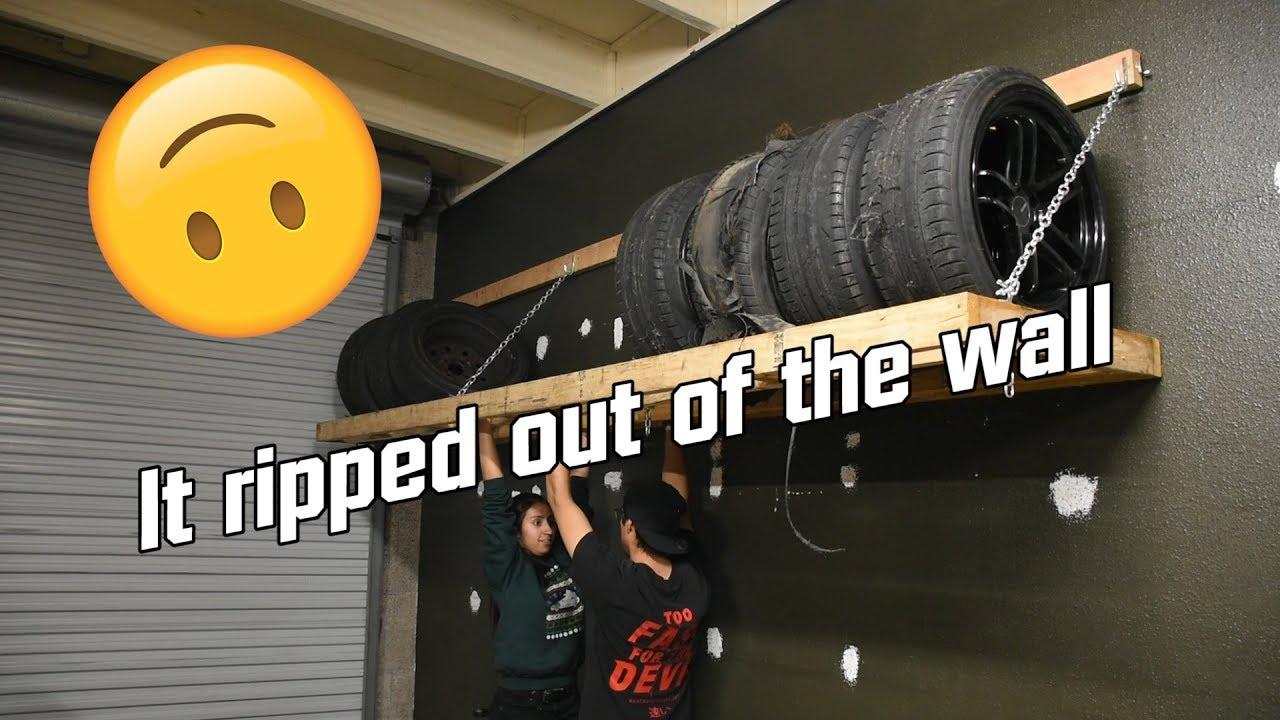 Massive DIY Wheel and Tire Rack Fail - YouTube
