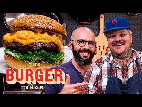 Binging with Babish and Matty Matheson's Krabby Patty-Inspired Burger Throwdown | The Burger Show