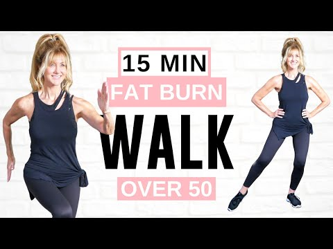 15 Minute FAT BURNING Indoor Walking Workout *Full Body*