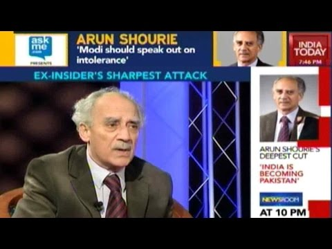 To The Point: Arun Shourie On Growing Intolerance In India