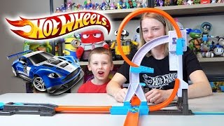 Hot Wheels Cars Track Builder System Stunt Kit & Starter Kit Hot Wheels Collection Kinder Playtime
