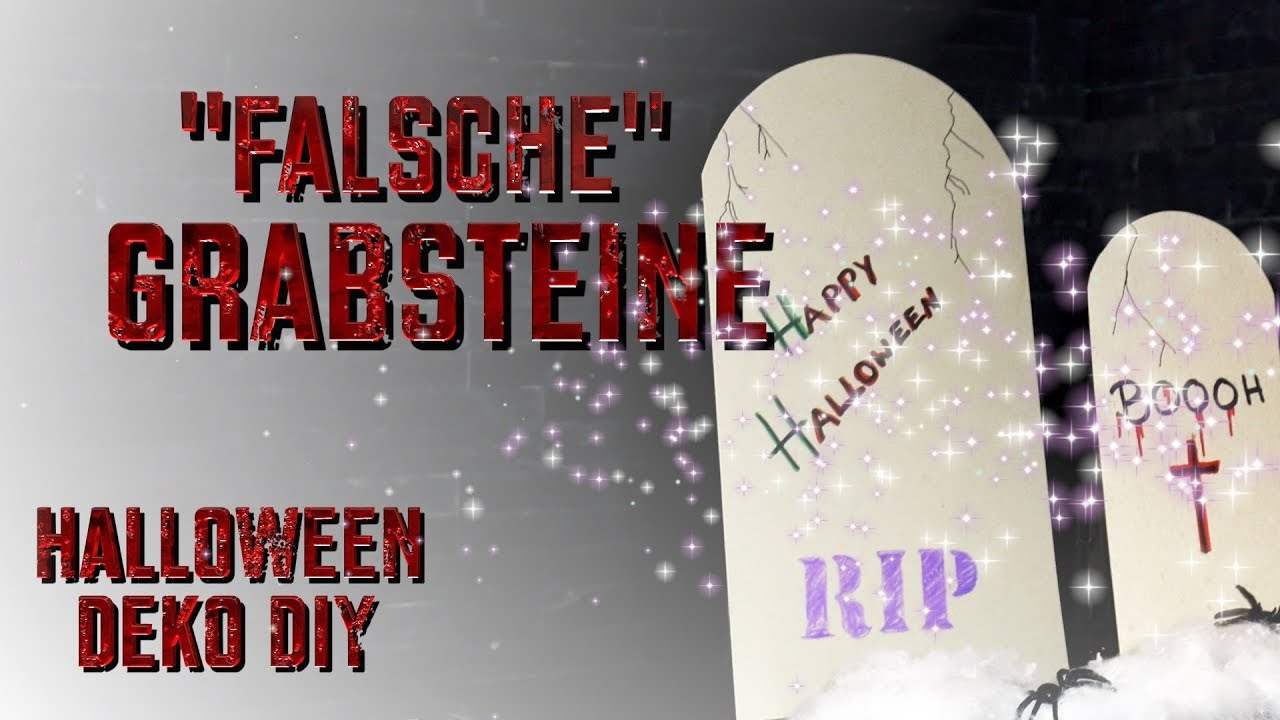 Diy Last Minute Halloween Deko Grabsteine Aus Karton Selber Basteln Youtube