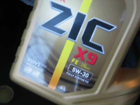 тест масла zic xq 5w 40 часть 4 температура -24 - YouTube
