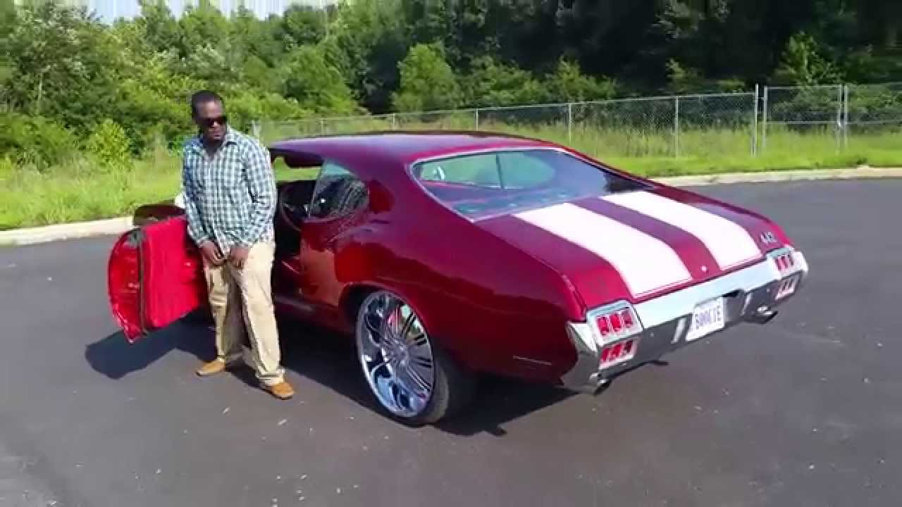 Candy Apple Red 1972 Cutlass 442 back to Alabama / Johns Re