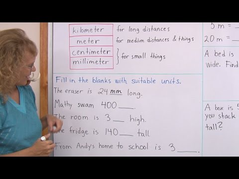 Common Metric Units Of Length Kilometers Meters Centimeters Millimeters 3rd Grade Math