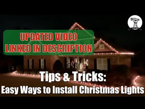 Installing Christmas Lights On Your Roof Line And House