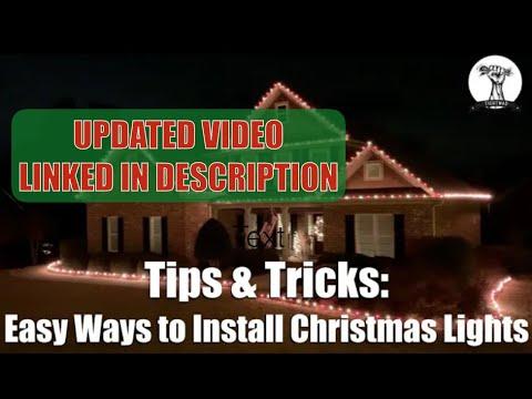 best way to hook up outdoor christmas lights