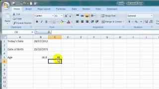 How to Calculate Age in Excel from a Date of Birth