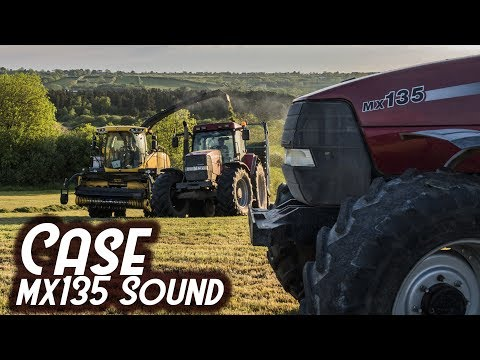 Case MX135 Drawing in silage - Sound