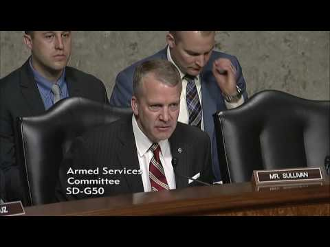 Sen. Dan Sullivan (R-AK) at a Senate Armed Services Committee Hearing - April 25, 2017
