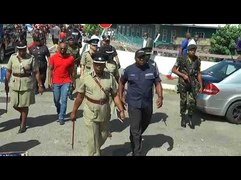 Minister of National Security, CDS and CoP (Ag.) tour Port of Spain for Carnival 2018.