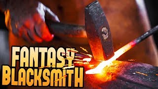 Becoming The Greatest One-handed Blacksmith - The Best Blacksmith Simulator? - Fantasy Blacksmith