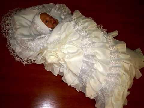 Комплекты в кроватку для новорожденных и конверты на выписку.