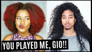 I TRIED A MEN's CURLY HAIR ROUTINE!! GIO'S WAVE