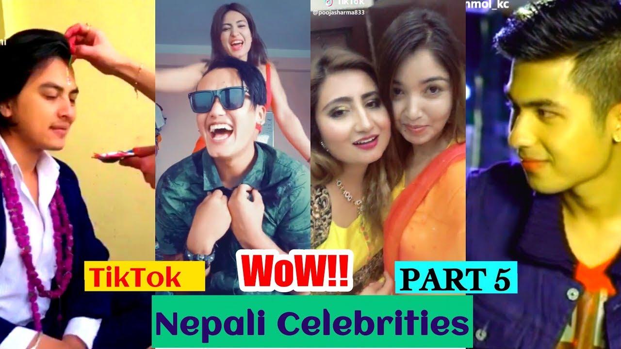 Tiktok Nepal Nepali Celebrities Compilation Part 5 Musically Nepal Youtube