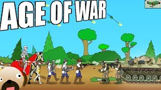 Original Historical Side Scrolling Strategy Game - Age of War Gameplay