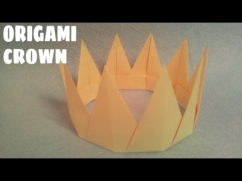 Origami for Kids - Origami Crown - Easy Origami