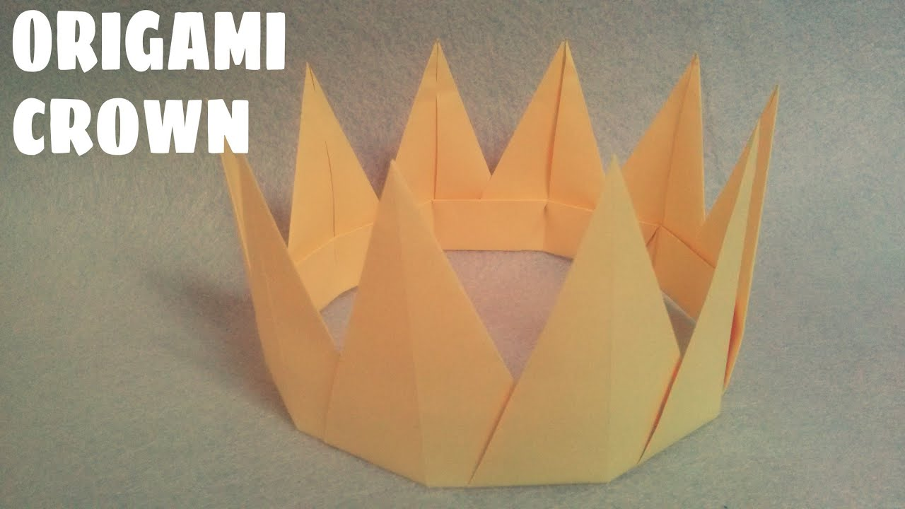 Origami For Kids Origami Crown Easy Origami Youtube