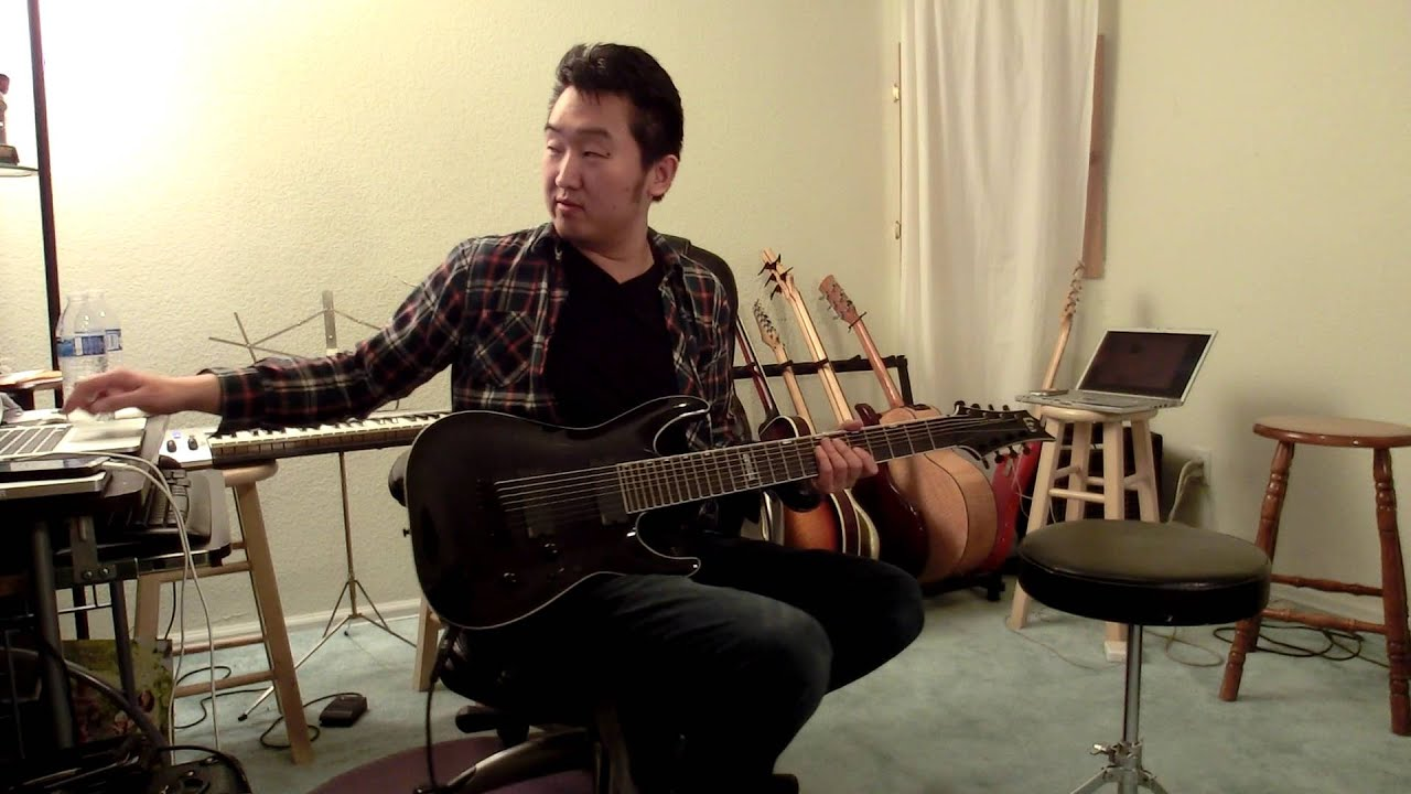 esp ltd h 408bfm 8 string test all i want to do is thall youtube