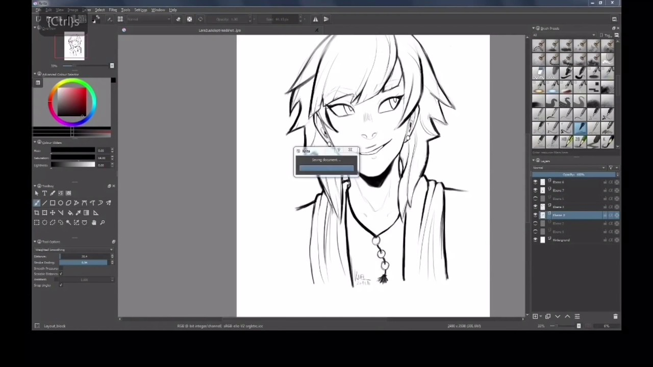 Line Drawing Software Free Download : Speed drawing ipad pro krita youtube