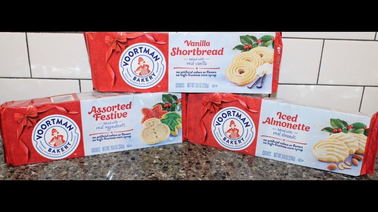 Voortman Bakery Cookies Vanilla Shortbread Assorted Festive Iced Almonette Review