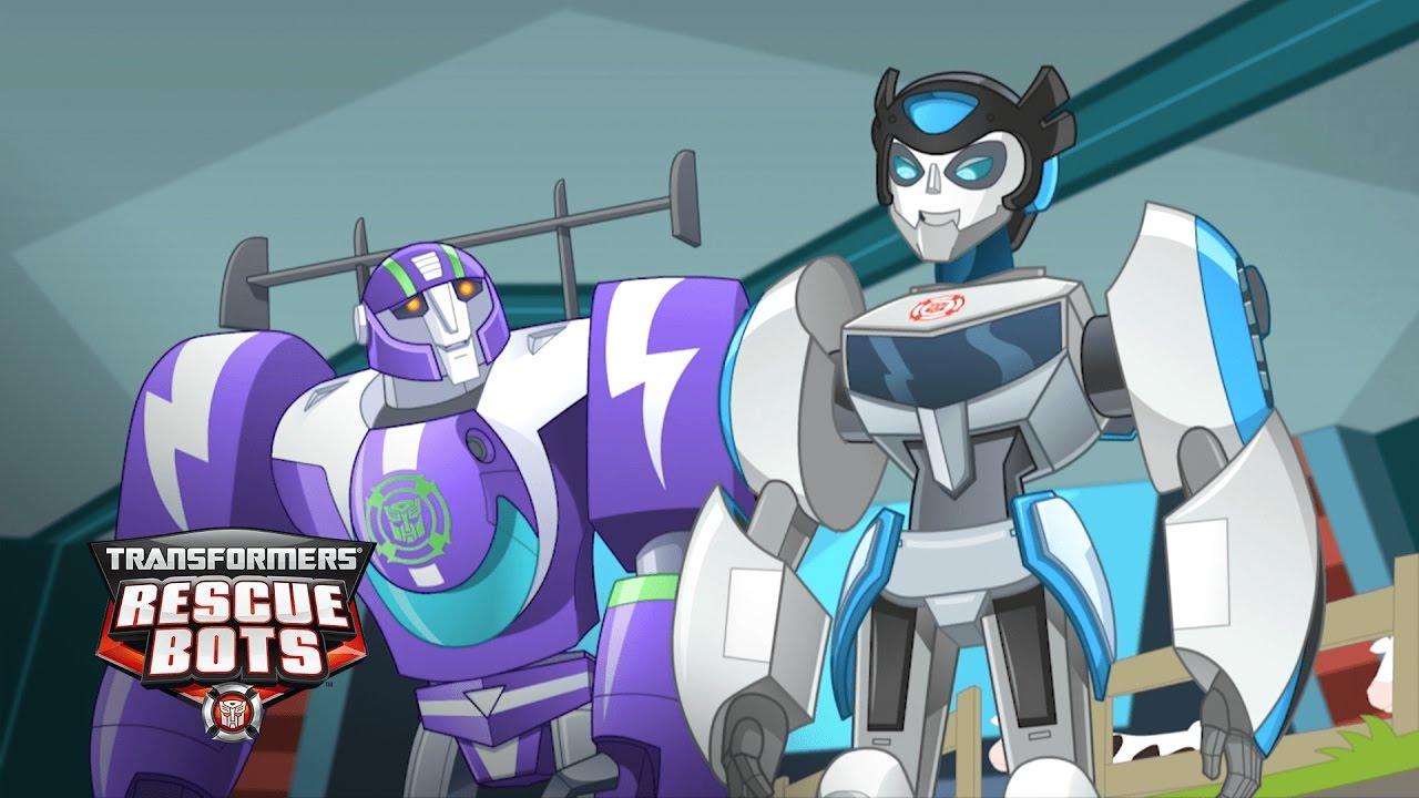 Download Transformers: Rescue Bots - 'Danger Bridge!' Racing Rescues | Transformers Kids