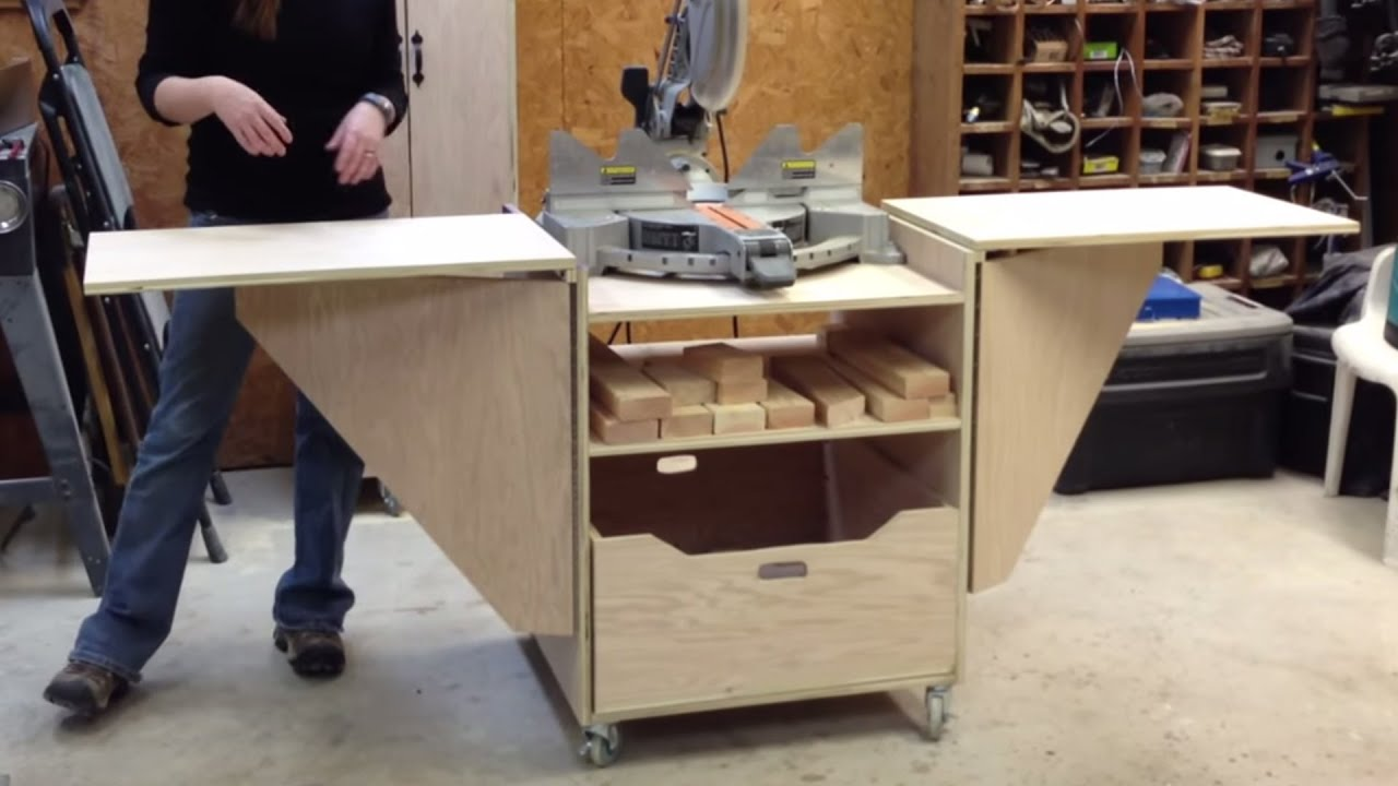 Best Kitchen Gallery: Diy Miter Saw Stand Youtube of Base Table Saw Cabinet Plan on rachelxblog.com