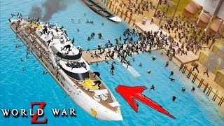 Zapętlaj МИЛЛИАРД ЗОМБИ СНЕСЛИ ОГРОМНЫЙ КОРАБЛЬ! ФИНАЛ ИГРЫ! НАШЛИ СПАСЕНИЕ В WORLD WAR Z | Coffi Channel