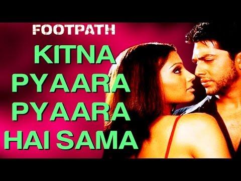 Kitna Pyaara Pyaara Hai Sama - Video Song   Footpath   Aftab & Bipasha Basu   Alka Yagnik & Abhijeet
