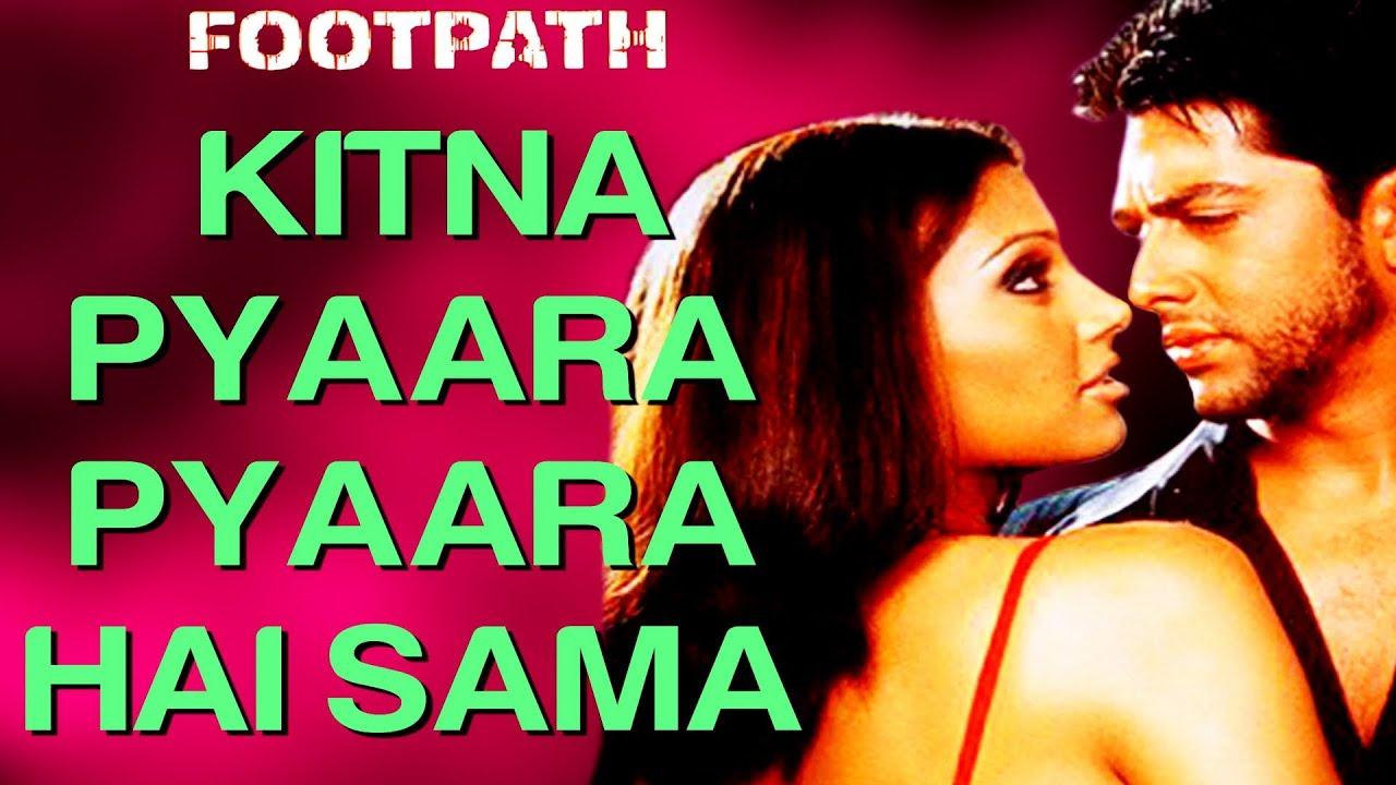Download Kitna Pyaara Pyaara Hai Sama - Video Song | Footpath | Aftab & Bipasha Basu | Alka Yagnik & Abhijeet