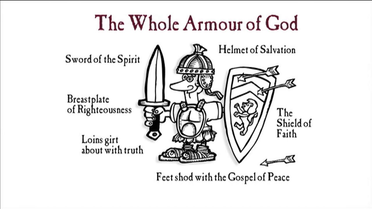 put on the whole armour of god man doodle works media youtube