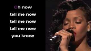 Stay by Rihanna Karaoke Instrumental w/Lyrics and Video