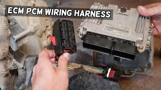 HOW TO DISCONNECT ECM ECM PCM WIRING HARNESS ON FORD FOCUS MK3. ENGINE  COMPUTER WIRES - YouTubeYouTube