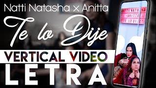 Natti Natasha x Anitta -Te Lo Dije (Vertical Video)