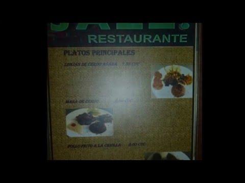 Varadero Cuba Restaurant Menus 2016