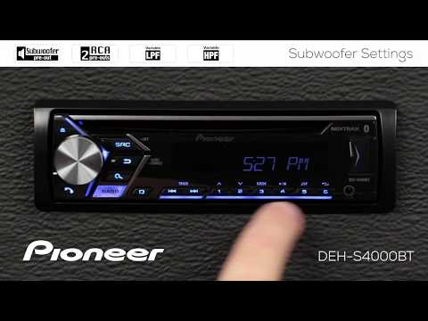 How To - Subwoofer Settings on Pioneer In-Dash Receivers 2018 - YouTube