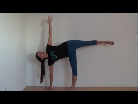 yoga beginner basics half-moon pose ardha chandrasana with shana meyerson yogathletica