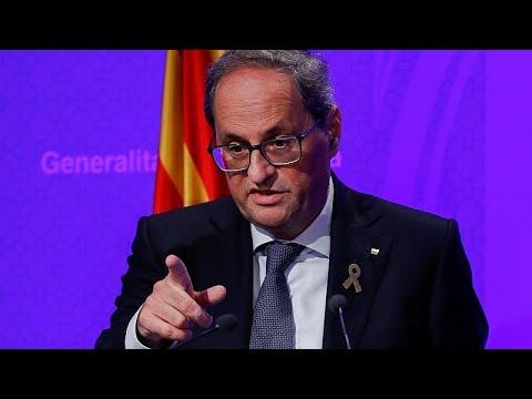 Líderes catalães pedem intervenção da comunidade internacional