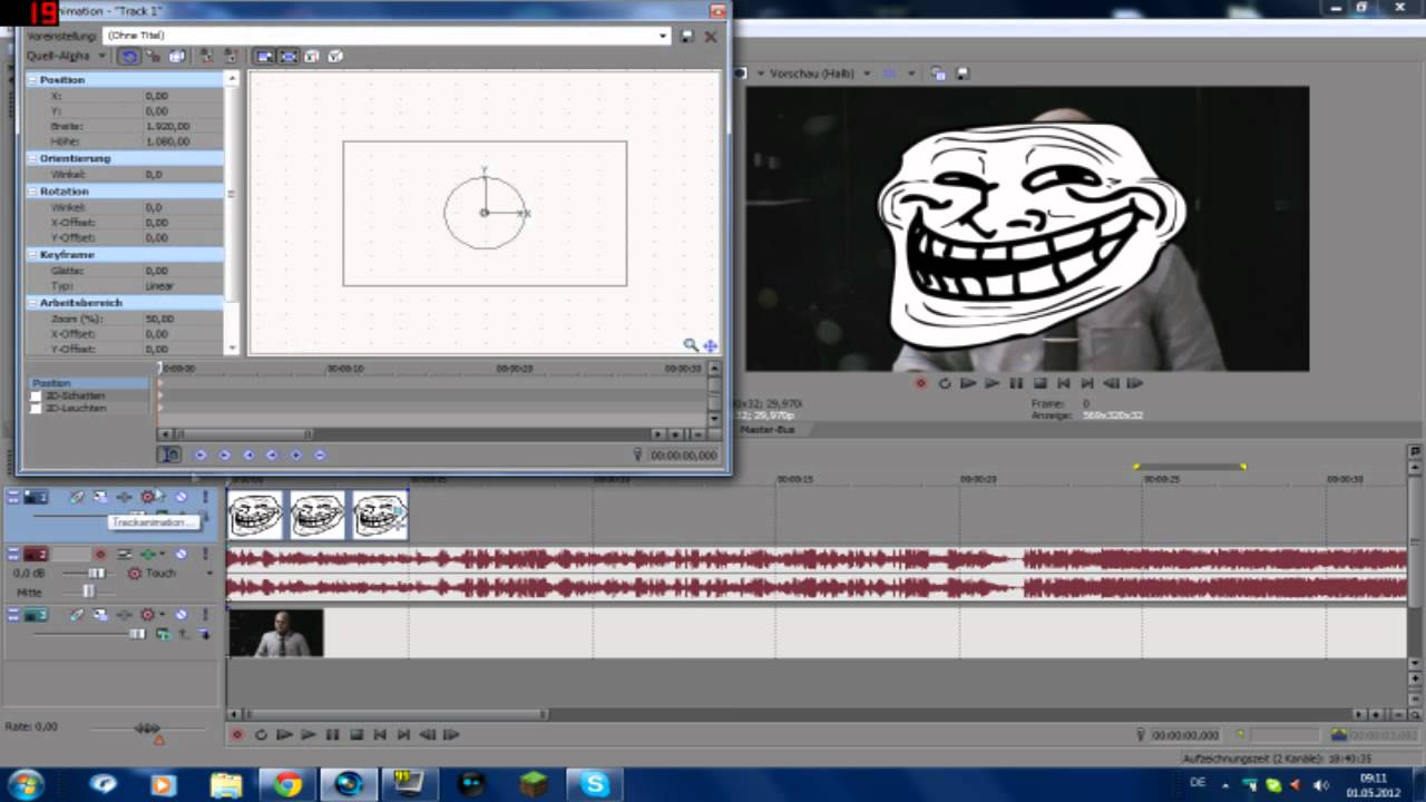 sony vegas how to add animatio