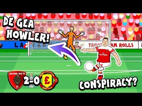 🚨DE GEA HOWLER - CONSPIRACY?🚨 2-0! Arsenal vs Man Utd (Premier League Goals Highlights Parody)