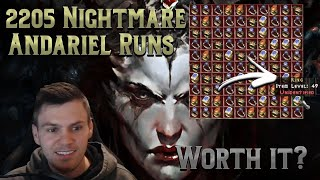 I did 2205 Nightmare Andariel Runs for 100 Unique Rings - Was it worth it?.... Diablo 2