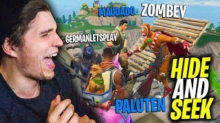 Hide and Seek in FORTNITE mit GermanLetsPlay, Zombey & Maudado