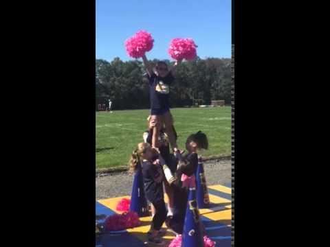 Jolie being Lifted by Cheerleaders 10.10.15