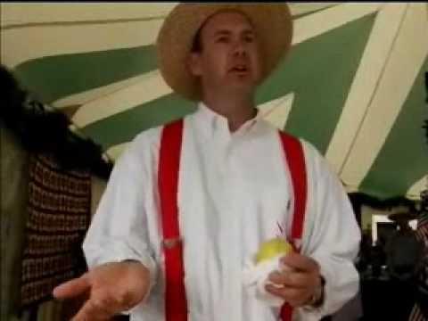 Jeffrey Byers at the Kutztown Festival making Pennsylvania Dutch Lemon Sticks