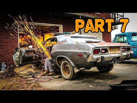abandoned-dodge-challenger-rescued-after-35-years-part-7:-rusty-floor-fix
