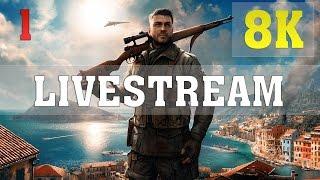 Sniper Elite 4 8K PC Gameplay ►LIVESTREAM◄ - No. 1 | Titan XP 4 Way SLI | ThirtyIR