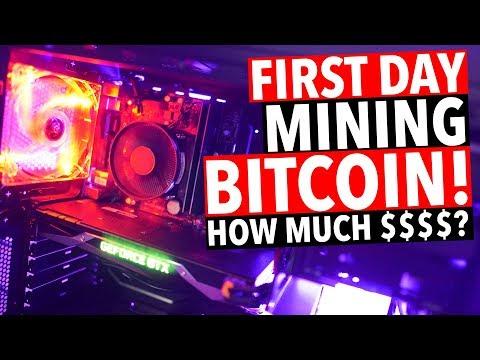 First Day Mining Bitcoin! GTX 1070 GPU