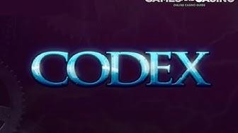 "New online casino slot ""Codex"" by Spieldev"