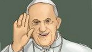 How to draw Pope Francis